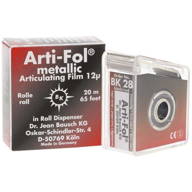 Bausch Arti-Fol Metallic 22mm wide 2/S Black/Red 12u BK28