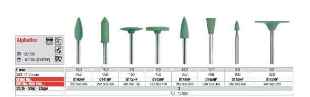 Edenta Alphaflex Green Polisher HP