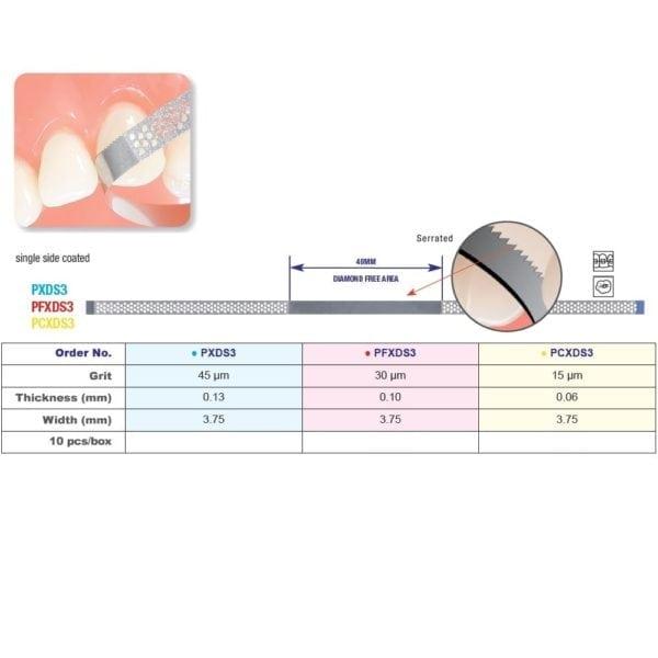 Edenta Diamond Perforated Finishing Strip & Saw