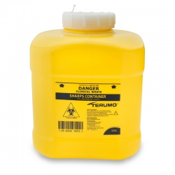 Terumo Sharps Container Bin Screw Lid 10L