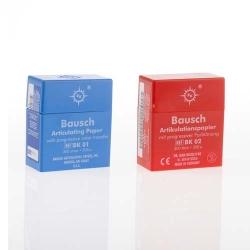 Bausch Articulating Paper w/Dispenser box Red 200u BK02