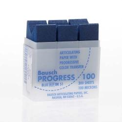 Bausch Articulating Paper w/Dispenser box Blue 100u BK51