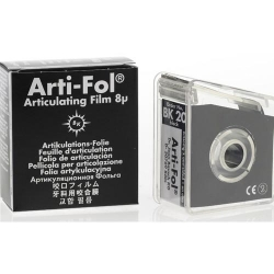 Bausch Arti-Fol Plastic w/Dispenser 1/S 22 mm Black 8u BK20