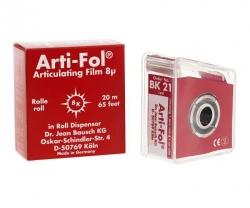 Bausch Arti-Fol Plastic w/Dispenser 1/S 22 mm Red 8u BK21