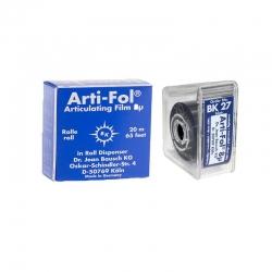 Bausch Arti-Fol Plastic w/Dispenser 2/S 22 mm Blue 8u BK27