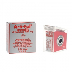 Bausch Arti-Fol Metallic w/Dispenser 1/S 22 mm Red 12u BK 31