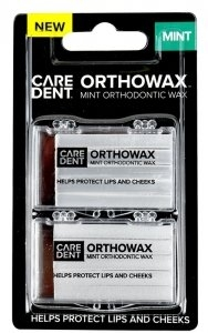 Caredent OrthoWax Mint Twin Pack Retail