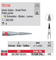 Edenta TC FG 12 Bladed Finishing Bur Small Point 500-314-159-071-010