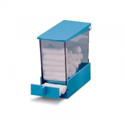Integra Cotton Roll Holder Deluxe Dispenser Blue