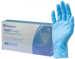 Medicom SafeTouch Slim Blue Nitrile Gloves (10x100)