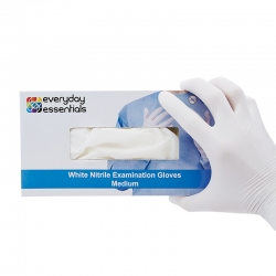 Everyday Essentials White Nitrile Gloves